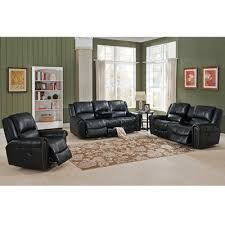 Amax Houston Piece Leather Recliner Living Room Set Wayfair