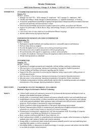 Interpreter Resume Interpreter Resume Samples Velvet Jobs 1