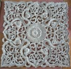 custom hand carved teak wood panels