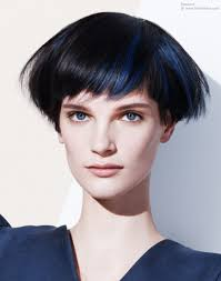 Hair Style Wedge short wedge shaped haircut for black hair with blue streaks 3087 by stevesalt.us