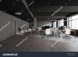 Modern Industrial Office Interior Design Interior Modern Industrial Style Office Gray Stock
