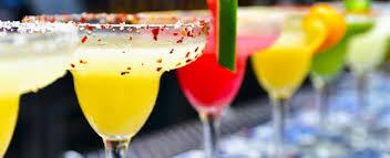 assortment of frozen cocktails in las vegas bar