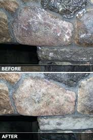 before and after stone fireplace cleaning how to clean a glass with windex soot from brick or