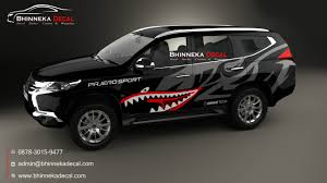 Pajero Sticker Design Decal Stiker Mobil Pajero 005
