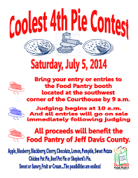 food pantry of jeff davis county 2014 coolest fourth bake 2014 coolest fourth pie contest info