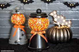 halloween candy bowl ideas.  Candy How To Make A Halloween Candy Jar Made Out Of Terra Cotta Pot Saucer  More Ideas And Candy Bowl Ideas