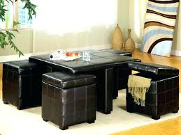 coffee table with stools underneath ottoman with stools underneath coffee tables with seating underneath coffee table