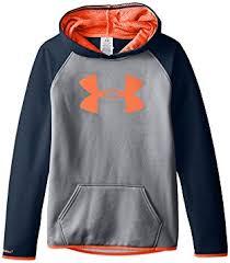 under armour youth hoodie. under armour girls\u0027 fleece big logo hoodie, true gray heather/after burn youth hoodie