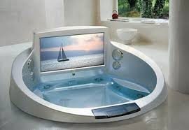 bath tub built in tv home interior design and decoration ideas built in bathtubs
