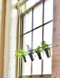 Curtain Rod Hanging Planters