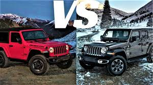 2 door vs 4 door 2018 jeep wrangler jl driving exterior interior fooe
