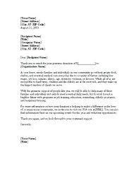 Thank You Letter For Food Donation Donor Thank You Letter Sample Donations Letters Examples For