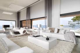 white interior design of modern cliff house youtube