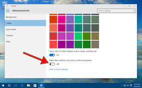 Disable Windows 10 Transparency Effects