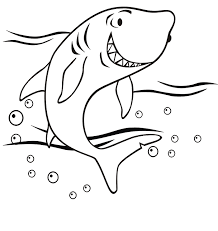 This coloring sheet is perfect to introduce your little kids to this fierce animal. Shark Pictures For Kids To Color Coloring Home