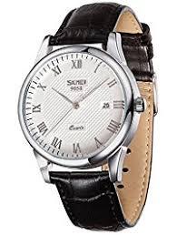 mens wrist watches amazon com voeons men s analog quartz watches vintage r numeral black genuine leather band business wrist watch auto