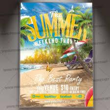 Summer Weekend Travel Flyer Psd Template