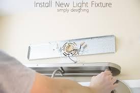 how to install vanity light fixture lighting designs