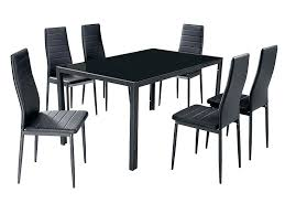 black table and chairs set black dining chairs set of 6 7 furniture black glass dining black table and chairs set