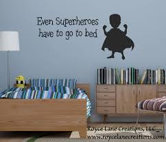 superhero decal even superheroes have to go to bed decal superhero wall decal superhero wall art super hero decal even super hero