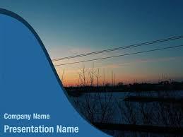 Free Dark Sunset Sky Powerpoint Template Backgrounds Dark