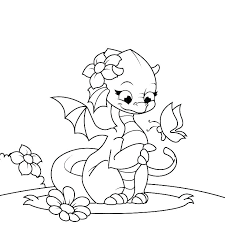 Cute Baby Dragon Coloring Pages Baby Dragon Coloring Pages Cute Baby