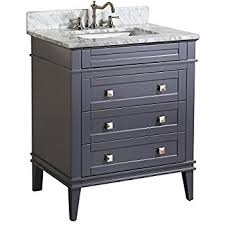 30 in bathroom vanity. Kitchen Bath Collection KBC-L30GYCARR Eleanor Bathroom Vanity With Marble Countertop, Cabinet Soft 30 In