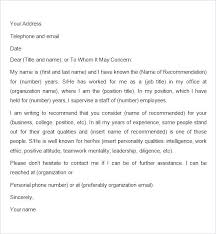 Sample Employment Letters Of Recommendation Recommendation Letter For A Employee Employment Letters Of