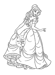 Disney Princess Belle Coloring Page For