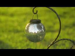 plow hearth solar hanging mercury glass lanterns on qvc