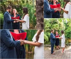 celtic hand binding ceremony at florida tech botanical gardens wedding