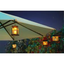Globe Umbrella Lights 4 Pk Of Solar Patio Umbrella Clip Lights Patio