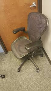 herman miller aeron office chair size b. preowned herman miller aeron size b- purple office chairs chair b