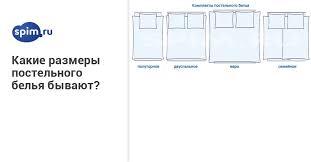 Какие размеры <b>постельного белья</b> бывают?