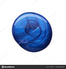 Tmavě Modré Módní Barvy Na Nehty Stock Fotografie Artcasta