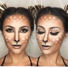 easy deer makeup for