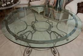 Glass Kitchen Tables Round Table Round Glass Dining With Metal Base Sloped Ceiling Basement