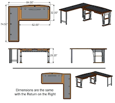 l shaped desk dimensions. Modren Dimensions Parsons L Shaped Desk Modern 2 Dimensions Throughout
