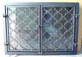 wrought iron fireplace screens wrought iron fireplace doors door cast iron fireplace screen cast iron scrollwork