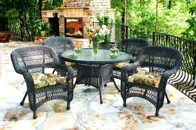 wicker patio table sets dark roast with coffee cushions round wicker patio table and chairs wicker patio table sets