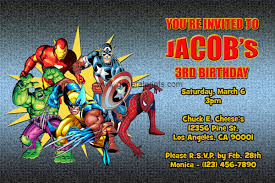 Superhero Birthday Invitations With Photos New Invitations