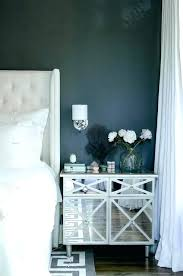 white drawer front. Mirrored Nightstand Black And White Bedroom With Gray Key Rug Drawer Front