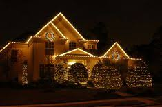easy outside christmas lighting ideas. Large Lit Wreaths With Bright Red Bows Hang At Different Places On The Front Facade And C9 String Lights \u2026   Pinterest Easy Outside Christmas Lighting Ideas N