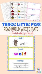 Read Build Write Mats Three Little Pigs Vocabulary Cards