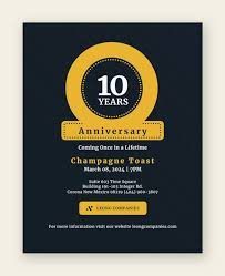 Sample Of Flyer 22 Anniversary Flyers Vector Eps Psd