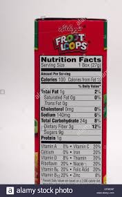 nutrition facts label for kellogg s froot loops cereal