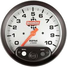 products gauges page 1 quickcar 611 6001 tachometer 0 10000 rpm analog 5 in diameter