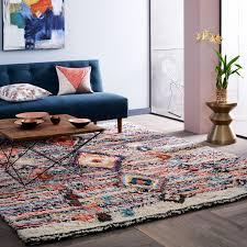pottery barn round rug floor