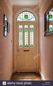 Victorian style front door with stained glass Stock Photo, Royalty ...