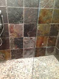 we love cleaning and sealing slate removed a lot of efflorescence soap residue removing dried grout